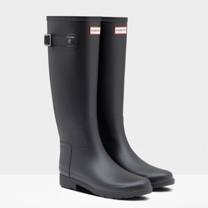Women's Refined Slim Fit Rain Boots: Black